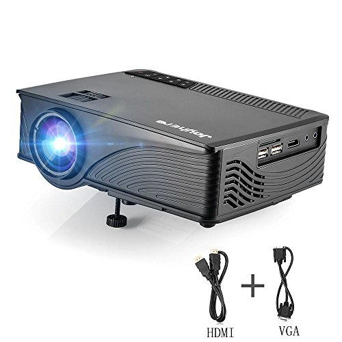 Mini Projector Joyhero Support Full HD 1080P 1920 X 1080Pixels 2000 Lumens Portable Video Projector For Home Cinema TheaterMovie Video Games With HDMI VGA Cable(Black)