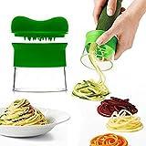 YOEEKU Coupe-légumes spirale main pour légumes Pommes de terre à spaghetti, courgettes Éplucheur à asperges, concombre éplucheur, la carotte concombre Râpe Éplucheur de carottes Mandoline