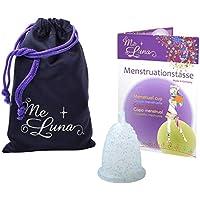 Me Luna Coupe menstruelle Classic, boule, bleu/paillettes, Taille S
