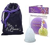 Me Luna Menstrual Taza Classic, Bola, Azul de Glitter, tamaño S