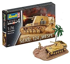 Revell- Maqueta de Tanque SD.Kfz. 124 Wespe, Kit Modelo, Escala 1:76 (03215)