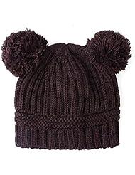 Wuiyepo Bébés filles garçons enfants Knit Cap hiver chapeau chaud
