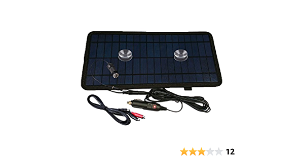 Nuzamas 8 5 W 12 V Power Solar Panel Akku Ladegerät Für Auto Suv Lkw Boot Marine Caravan Kommt Mit Usb Krokodilklemmen Und Zigarettenadapter Garten