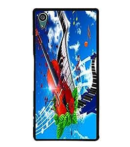 Fuson Premium 2D Back Case Cover Stylish Violin With Multi Background Degined For Sony Xperia Z5 Compact::Sony Xperia Z5 Mini