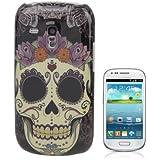 Rocina HardCase Backcover Schutzhülle für Samsung i8190 Galaxy S3 Mini Totenkopf mit Rosen