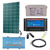 Kit Solare 145W Libera installazione mono + convertitore 230V/375va