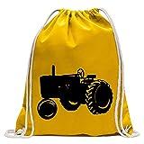 Kiwistar Traktor - Schlepper - Großtraktor Turnbeutel Fun Rucksack Sport Beutel Gymsack Baumwolle mit Ziehgurt