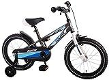 16 Zoll Fahrrad Qualitäts Kinderfahrrad mit Stützräder Blade Grau Matt 61631