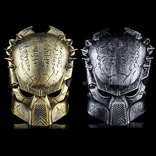 liMian Halloween Deluxe Version film Cartoon theme Videos predator Masken aqp cis Wolf, 2 Silber) Random Fat (Predator Halloween-maske)
