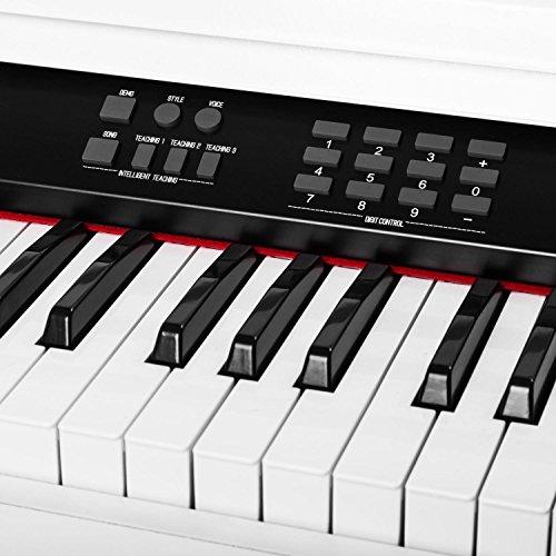 Schubert Subi88P2 • E-Piano • Keyboard • 88-Tasten • MIDI-Unterstützung • Anschlagdynamik • 138 vorinstallierte Instrumente • 118 Rhythmen • 31 Demo-Songs • 2 Pedale • LCD-Display • 3 Speicherplätze • zuschaltbares Metronom • Notenständer • weiß - 9
