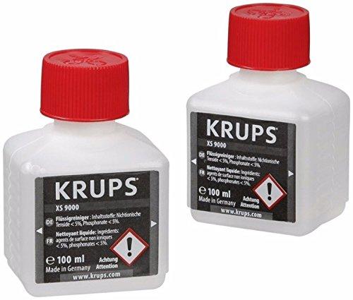 Krups XS9000 Flüssigreiniger für Kaffeevollautomaten mit Milchsystem, 2-er Pack