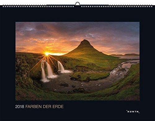 Farben der Erde 2018: Kalender 2018 (KUNTH Wandkalender Black Edition)