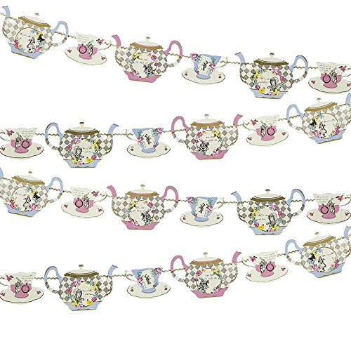 Girlande Alice im Wunderland Dekoration Deko Teatime Patisserie
