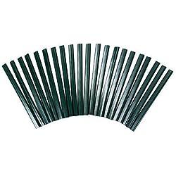 1a-Handelsagentur 20 PVC Klemmleisten für Sichtschutz Klemmschienen Clipse Doppelstabmatten (grün)