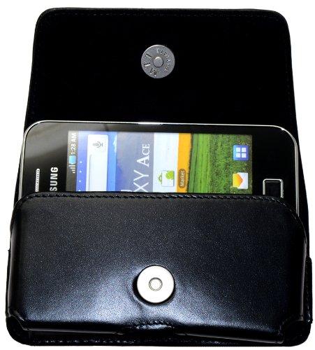 MTT Original Quer-Tasche mit Gürtelschlaufe für Samsung Galaxy Ace Plus S7500 schwarz