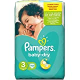Pampers Baby Dry Nappies Large Pack, Size 3 (Midi) - 70 Nappies