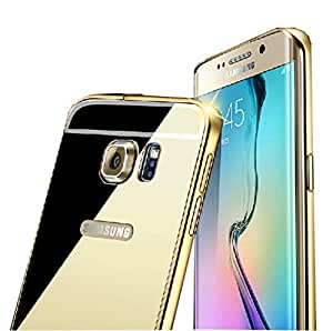 Samsung Galaxy Note 5 Mirror Case, Blue-sea88(TM) Luxury Anti-scratch Ultra thin Mirror Metal Aluminum Frame Case for Samsung Galaxy Note 5 (Gold)