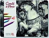 Conte à Paris Coffret de Crayons Pastel Assortiment de 48 couleurs