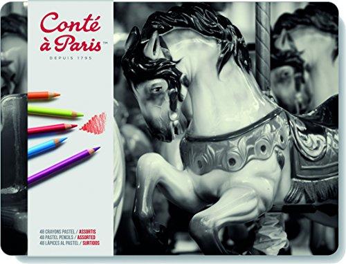 Pastellstifte (hochwertigen Künstler, Zeichenstifte mit weiche, cremige Textur, leuchtende Farben) 48er Sortiment ()