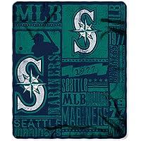 "MLB Seattle Mariners fuerza impresa manta polar, verde, 50""x 60"""