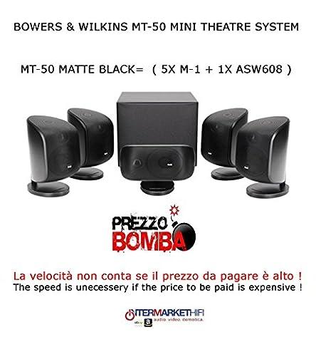 Bowers & Wilkins mt-50Matte Black Mini Theatre System 50S.