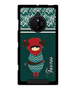 Fuson 2D Printed Sunsign Taurus Designer back case cover for Nokia Lumia 830 - D4407