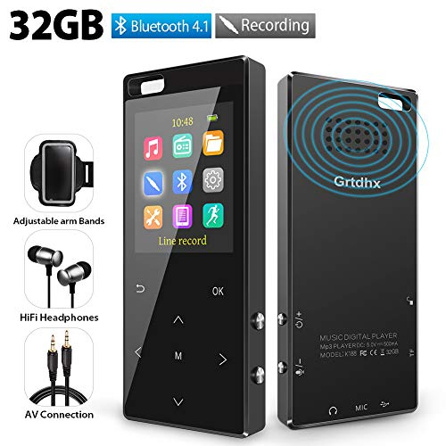 MP3 Player 32GB with Bluetooth 4...