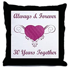 Idea Regalo - Cafepress–30th Anniversary Heart–Cuscino decorativo, Accent Pillow, Cover + Insert