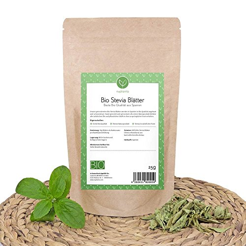 Bio Stevia Blätter (gemahlen), 100g reines Naturprodukt Ideal als Badezusatz - Stevia Blatt Pulver