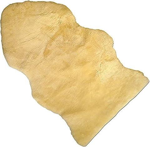 Baby Lammfell Naturform geschoren medizinisch gegerbt 100% Merino Lammfell Naturfell Premium Qualität waschbar ca. 90cm (Pelle Appartamento Divano)
