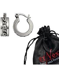 """etNox by ECHT - Creolen Ohrringe """"Mesh Steel"""" Edelstahl"""