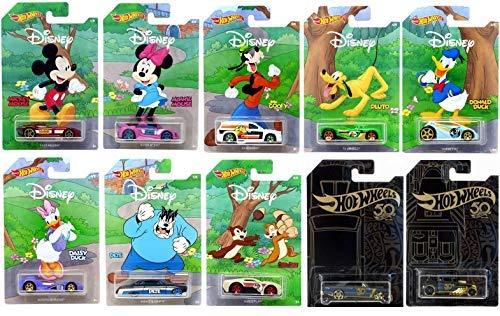 Disney Hot Wheels 2019 Disney 90 jubiläum Exklusives autospiel mit Bonus spielzeugauto Sammlung Packung mit 10