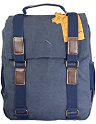 Toile et cuir sac à dos marine hommes sac d'ordinateur portable sac à dos. Canvas Rucksack.