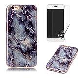 Pour Coque iphone 4/iphone 4S Marbre, OYIME [Motif en Marbre Lisse] Design Créatif...
