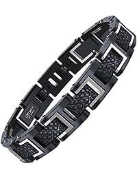 COOLMAN - Bracciale da uomo, Braccialetto in acciaio inossidabile 316L, Dimensione regolabile 20-22 cm, con GRATUITO Gift Box, Serie RacingLegend