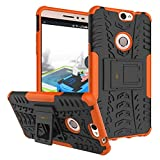 Heartly Coolpad Max A-8 Back Cover Kick Stand Rugged Shockproof Tough Hybrid Armor Dual Layer Bumper Case - Mobile Orange