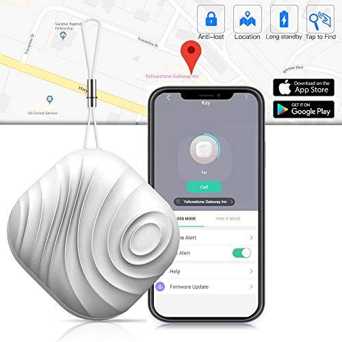 Finder - Luxsure Nut 3 Anti-Lost Mini Wireless Tracker für Schlüssel Handy Wallet Pet Geldbörse Gepäck Locator mit App-Steuerung für IOS Android Geräte (Eine Grau) ()