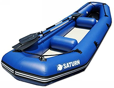 Saturn 12 ft Inflatable River Fishing Raft / Ducky Boat - Blue by Saturn