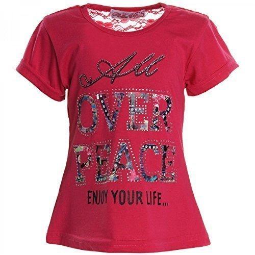 BEZLIT -  T-shirt - stile impero - Collo a U  - Maniche corte  - ragazza rosa 10 anni