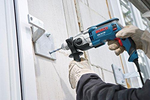Bosch Professional GSB 19-2 RE Schlagbohrmaschine (2-Gang, 13 mm Schnellspannbohrfutter, Tiefenanschlag, Zusatzhandgriff, 850 W, Koffer) blau, 060117B500 - 2