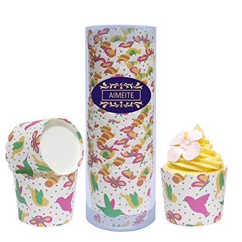 erförmchen,24 Stück Cupcake Formen Papier Cupcake Liner Muffin Förmchen Papier Backformen Cupcake Papier Backförmchen (Weiß Stil 6) ()