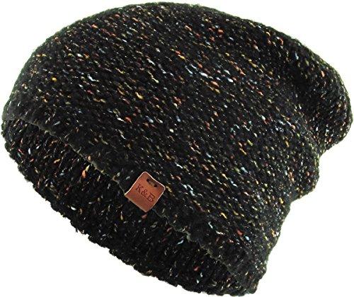 22ff5033acb KBW-258 BLK Confetti Slouchy Beanie Skull Cap Hat