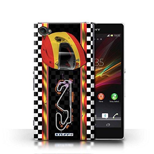 Kobalt® Imprimé Etui / Coque pour Sony Xperia Z1 Compact / Espagne/Catalogne conception / Série F1 Piste Drapeau Espagne/Catalogne