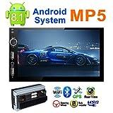XZZTX Touch Screen Capacitivo da 7 Pollici Lettore MP5 per Auto Android 8.1 a Doppia Vibrazione Integrato WiFi WiFi Supporto di Navigazione GPS Registratore di Guida Esterno USB