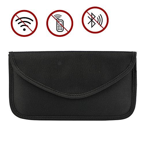 Faraday Tasche,Autoschlüssel Rfid Schutz,Signal Blocker Autoschlüssel,Keyless Schlüssel (Schwarz)