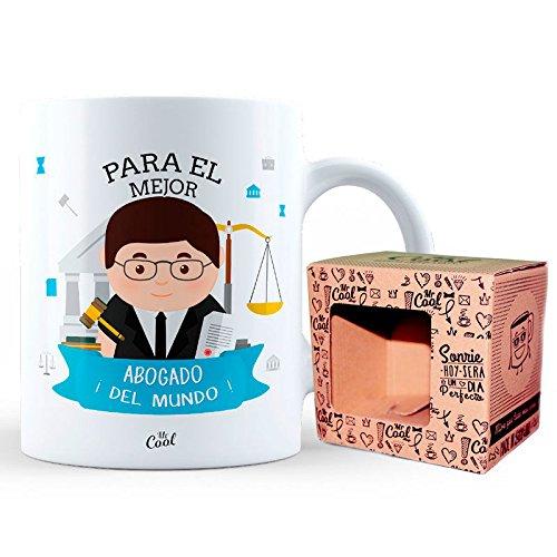 Foto de Mr Cool Taza en Caja Regalo en Mensajepara El Mejor Abogado ¡del Mundo, Cerámica, Multicolor, 15x10x5 cm