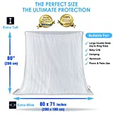 #1 The Best Mosquito Net By NATURO HOME for Double Bed Canopy | Largest Screen Netting Curtains | 2 Openings | Bonuses: 2 Insect Repellent Bracelets, A Full Hanging Kit, Carry Bag + E-book