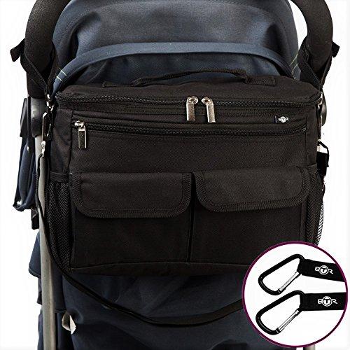 BTR Bolsa Para Bebe, bolsa carro bebe & bolso silla de paseo. 2 ganchos. Diseño universal