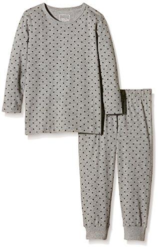 NAME IT Baby-Mädchen Zweiteiliger Schlafanzug NITNIGHTSET M G NOOS, Gepunktet, Gr. 98, Mehrfarbig (Grey Melange)
