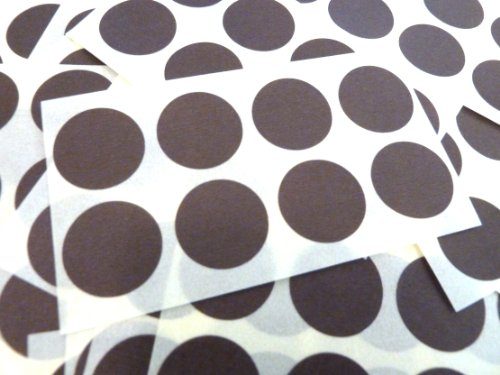 135 etiquetas, 19mm de diámetro redondo,marrón oscuro,código de color PEGATINAS, autoadhesivo ADHESIVO PUNTOS DE COLORES